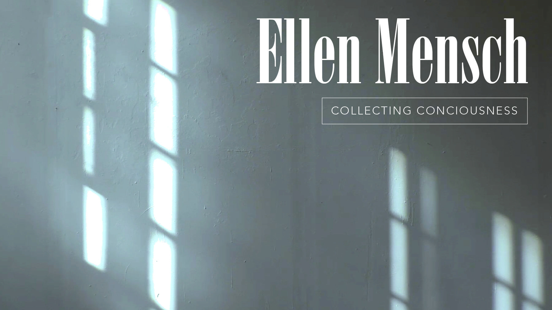 Ellen Mench, Collecting Consciousness
