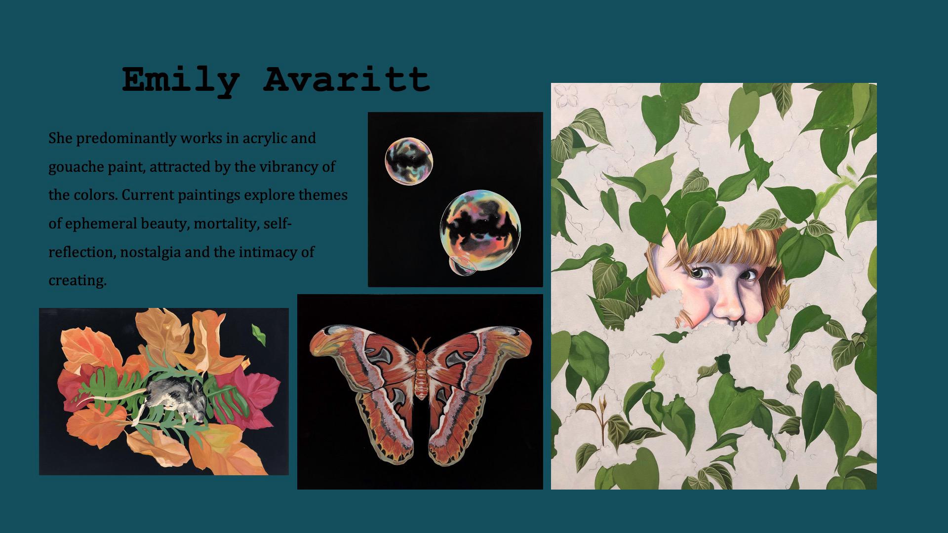 Emily Avaritt, Acrylic and Gouache
