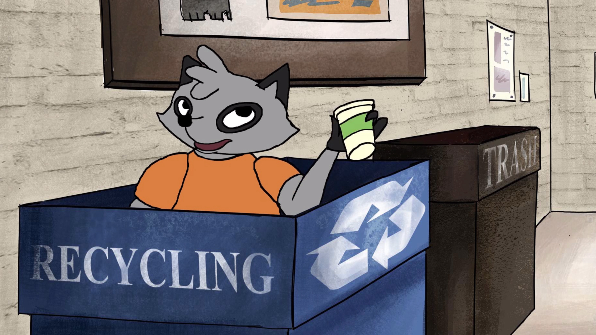 Rylee Barnett, Graham Braaten, Megan Jessie and Allison Lake, Recycle Like Reggie