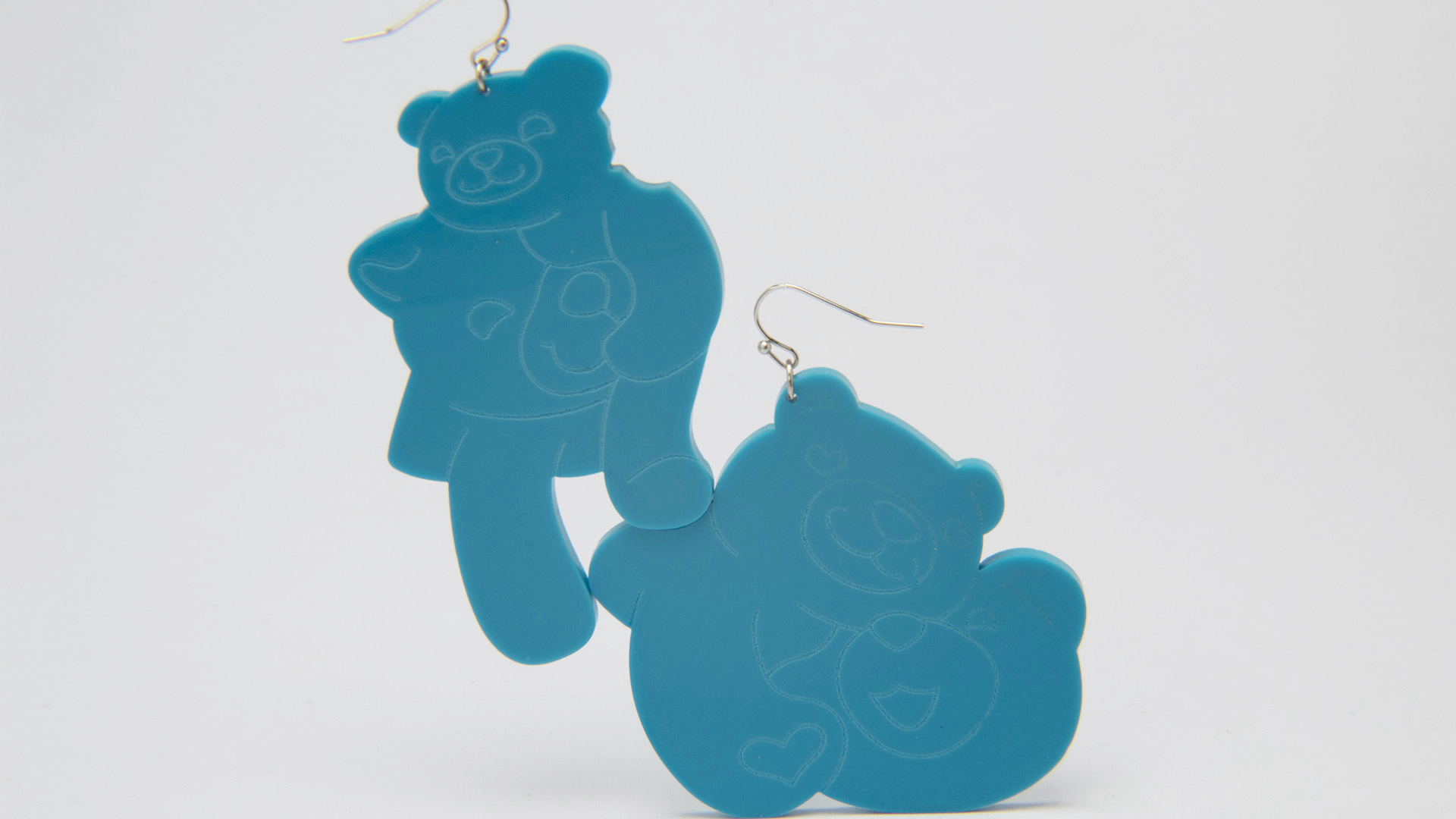 Megan Diamond, Bear Earrings Blue