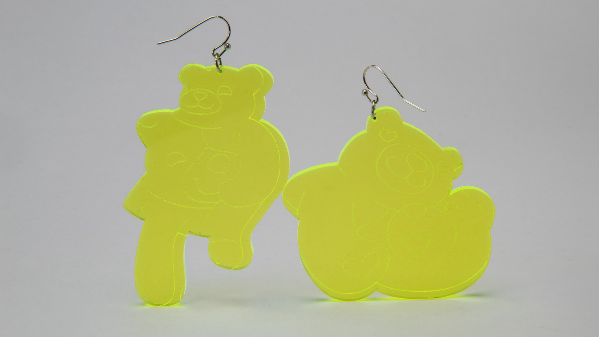 Megan Diamond, Bear Earrings Yellow