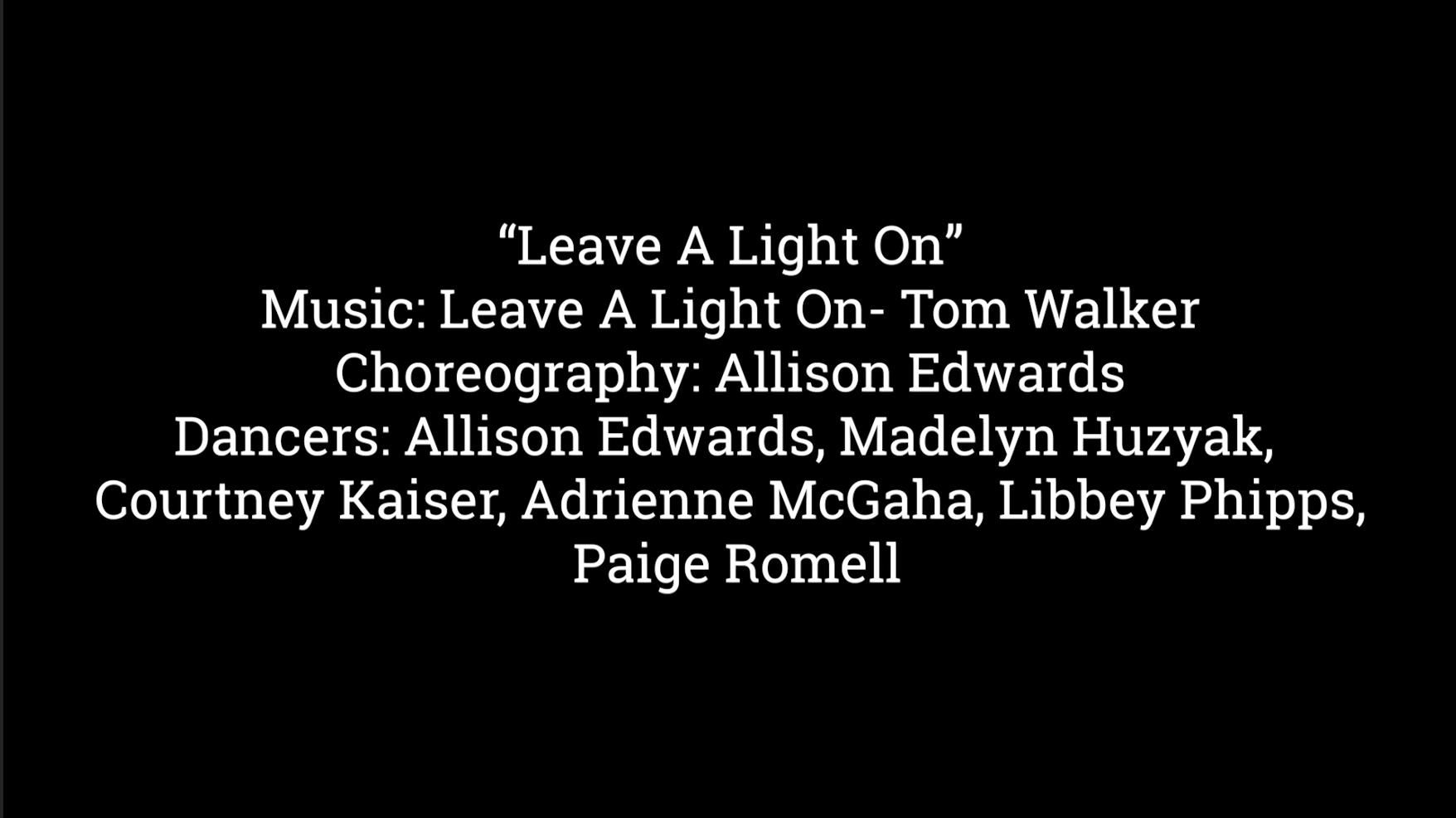 Allison Edwards, Leave A Light On