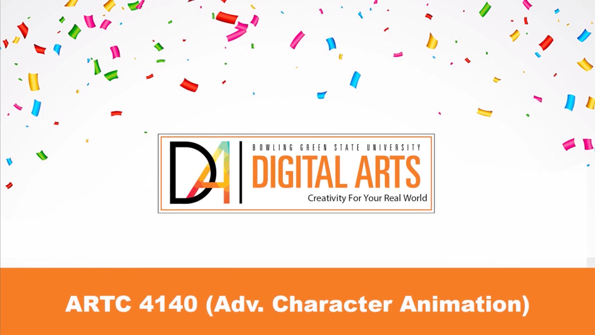 ARTC 4140, Character Animation
