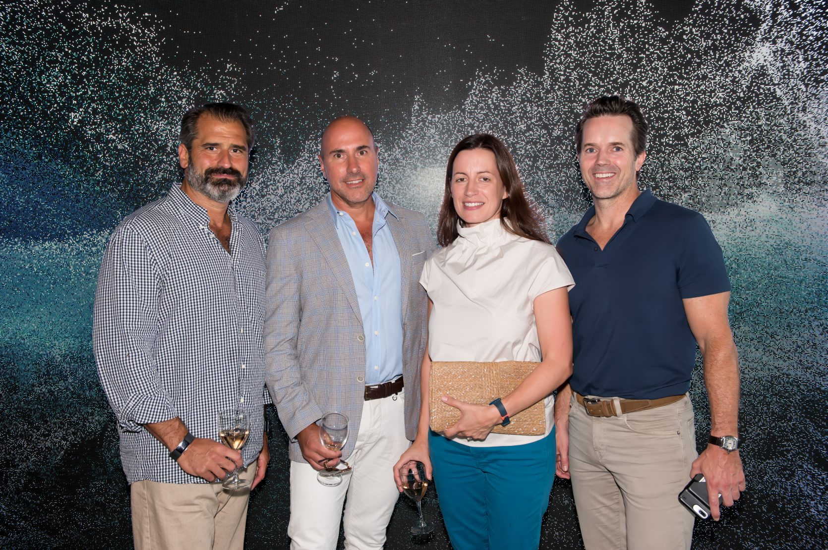 Lance Brown, Jon Vaccari and Becca Kelly and Steve Fleming