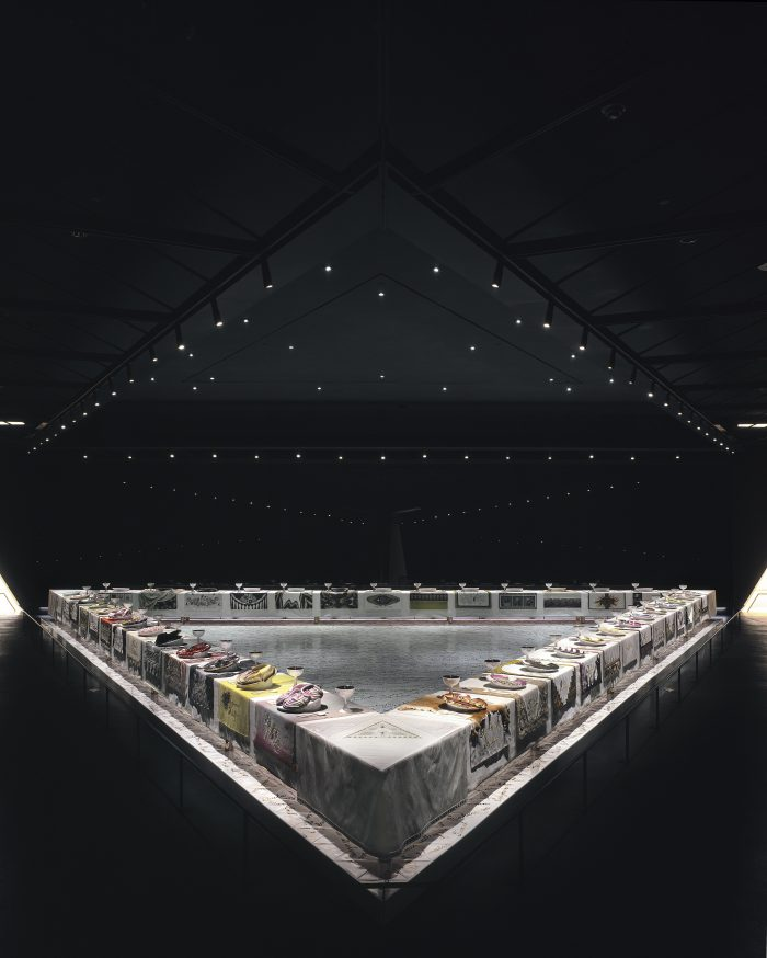 Judy Chicago's The Dinner Party, 1974-79.