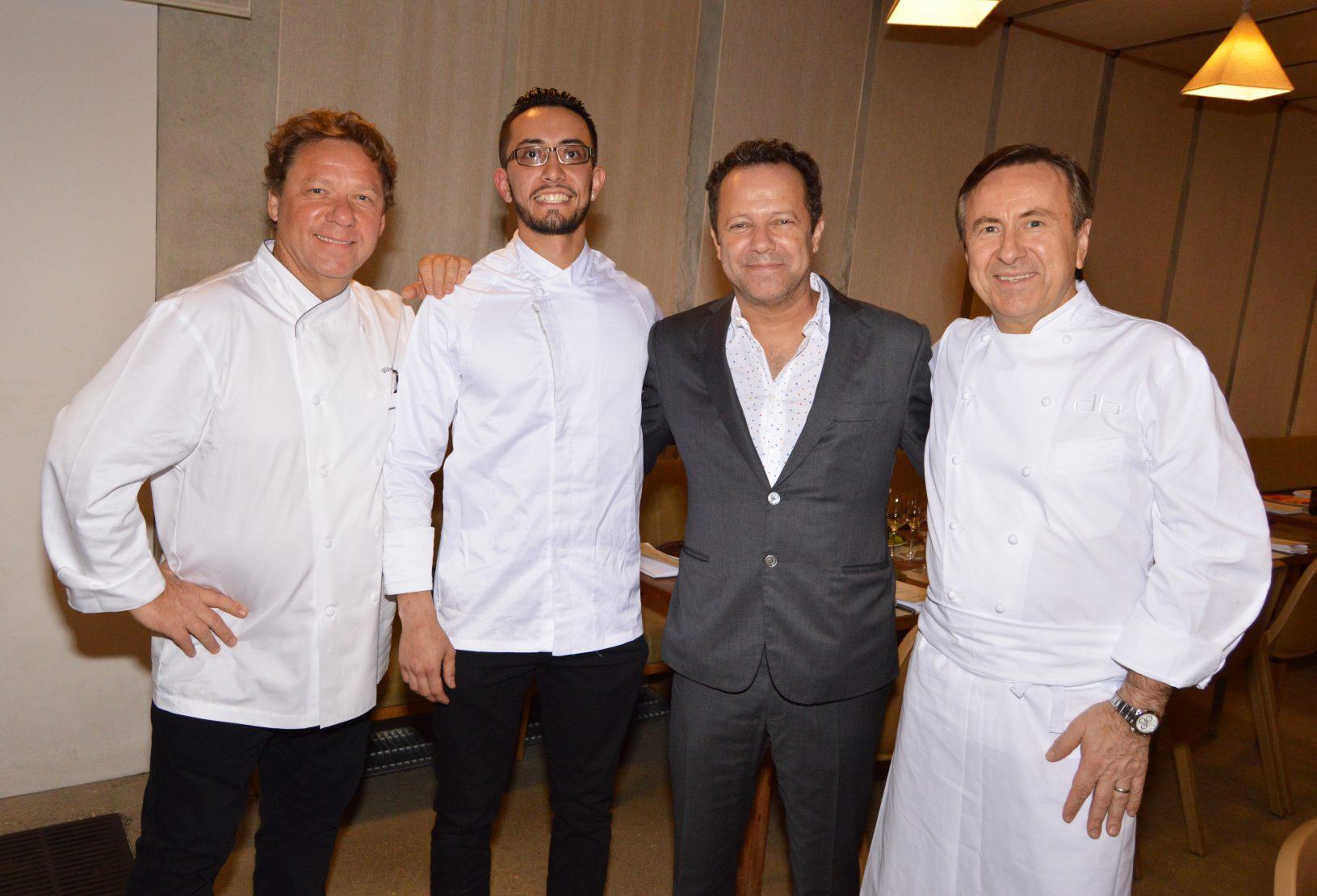 Claude Troisgros, Freddie Martinez, Vik Muniz and Daniel Boulud