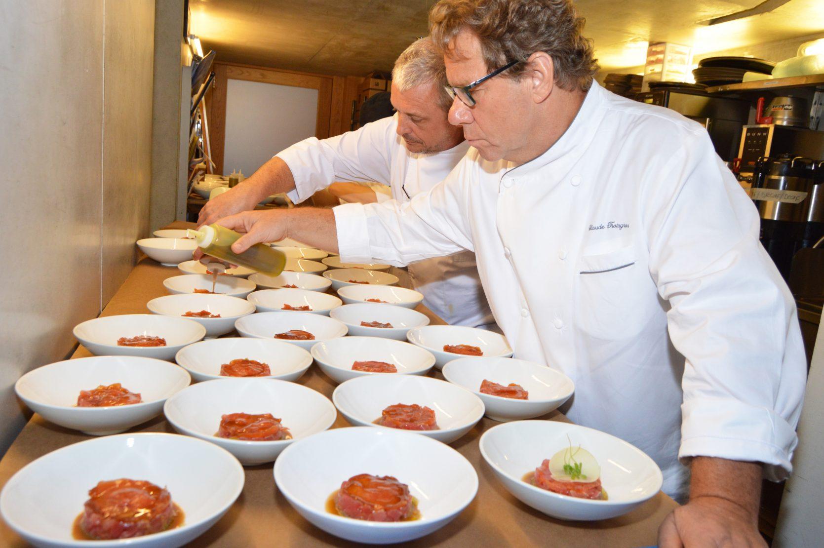 Claude Troisgros in the kitchen
