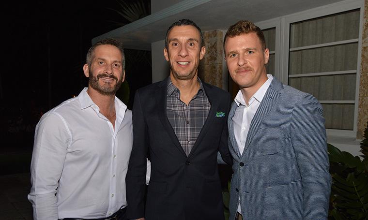 Marc Fugnitto, Esteban Bressan and Stephan Weishaupt
