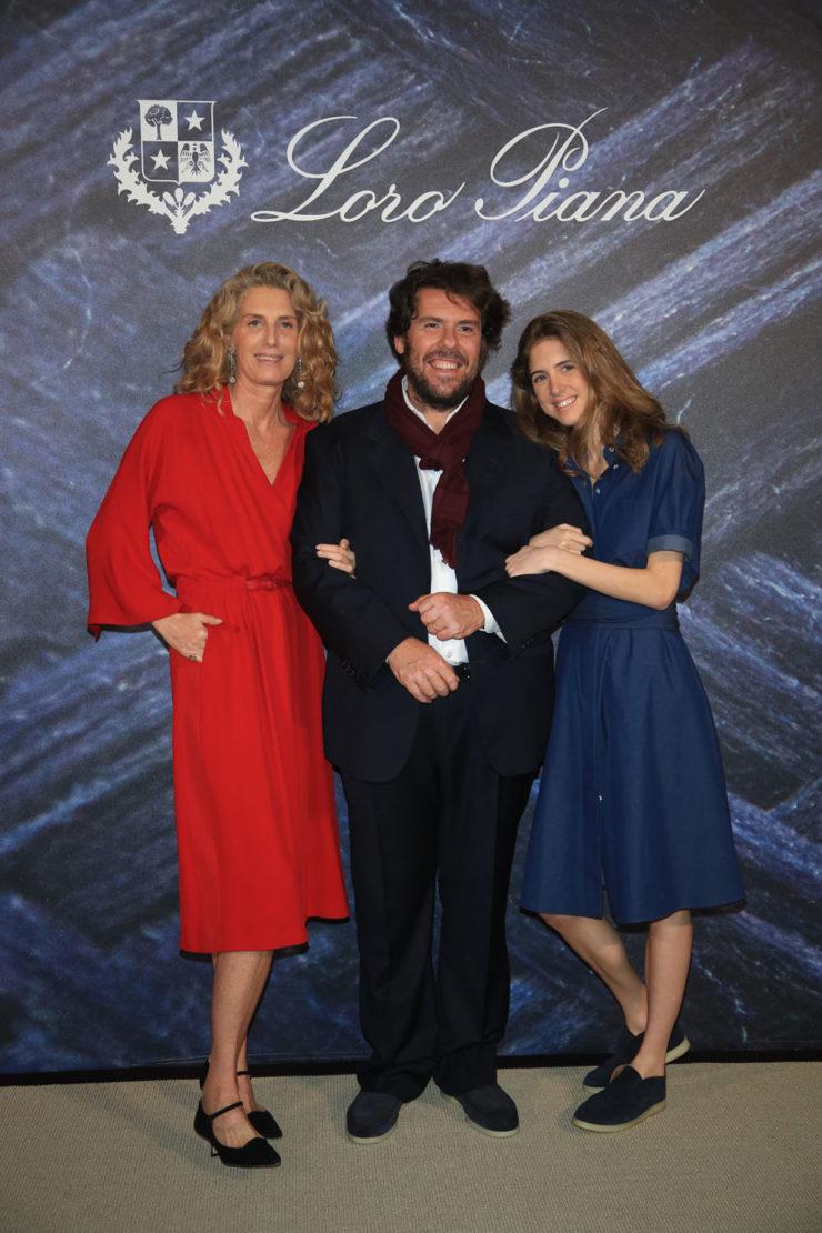 Luisa Loro Piana, Fabio d'Angelantonio and Vittoria Loro Piana