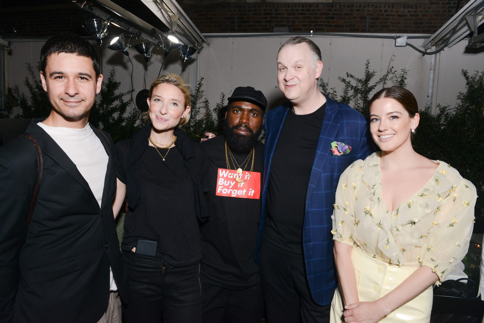 Jonah Bokaer, Lily Snyder, Derrick Adams, Eric Shiner and Laura Currie