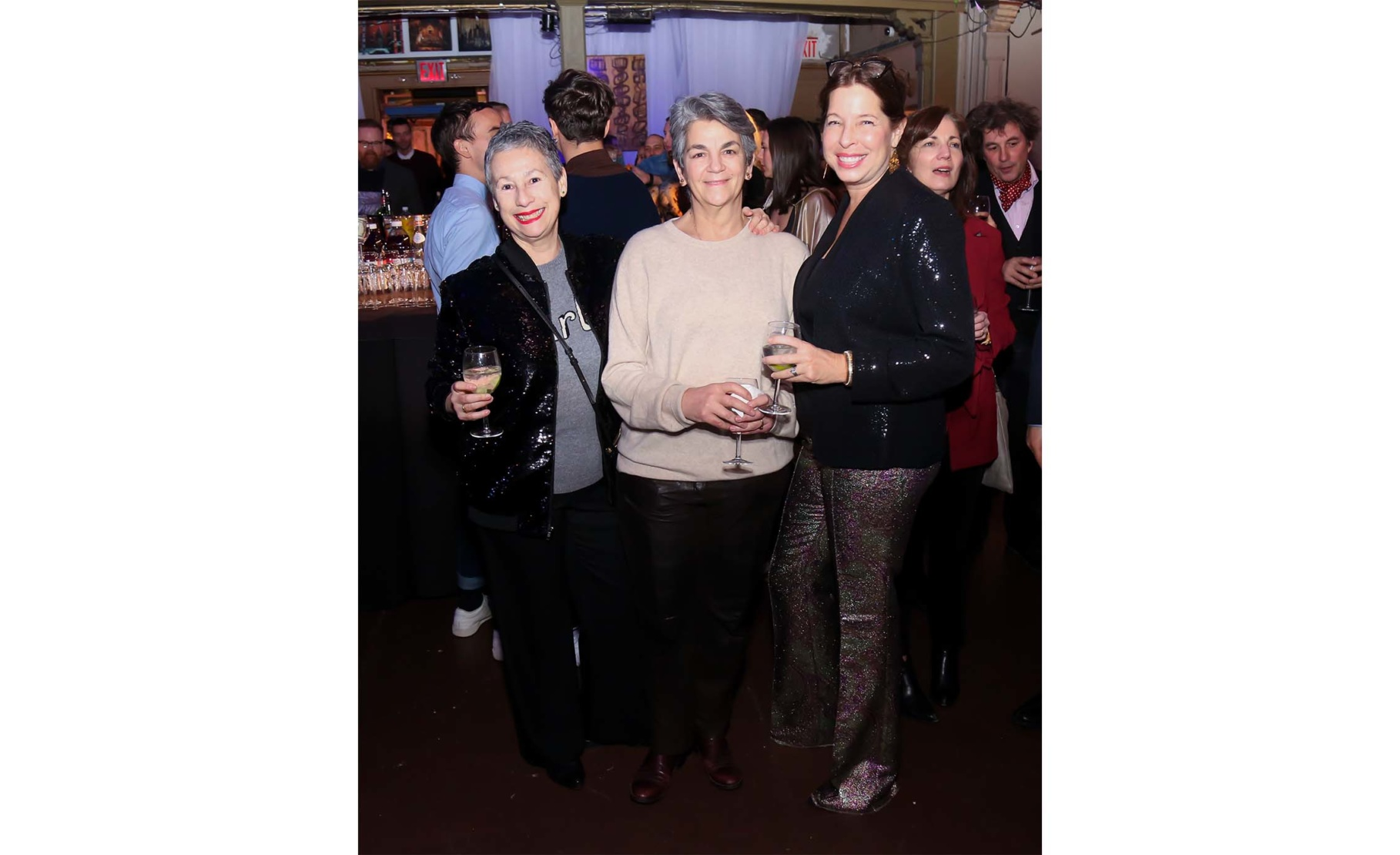 Cristina Grajales, Isabelle Krishen and Anne Pasternak