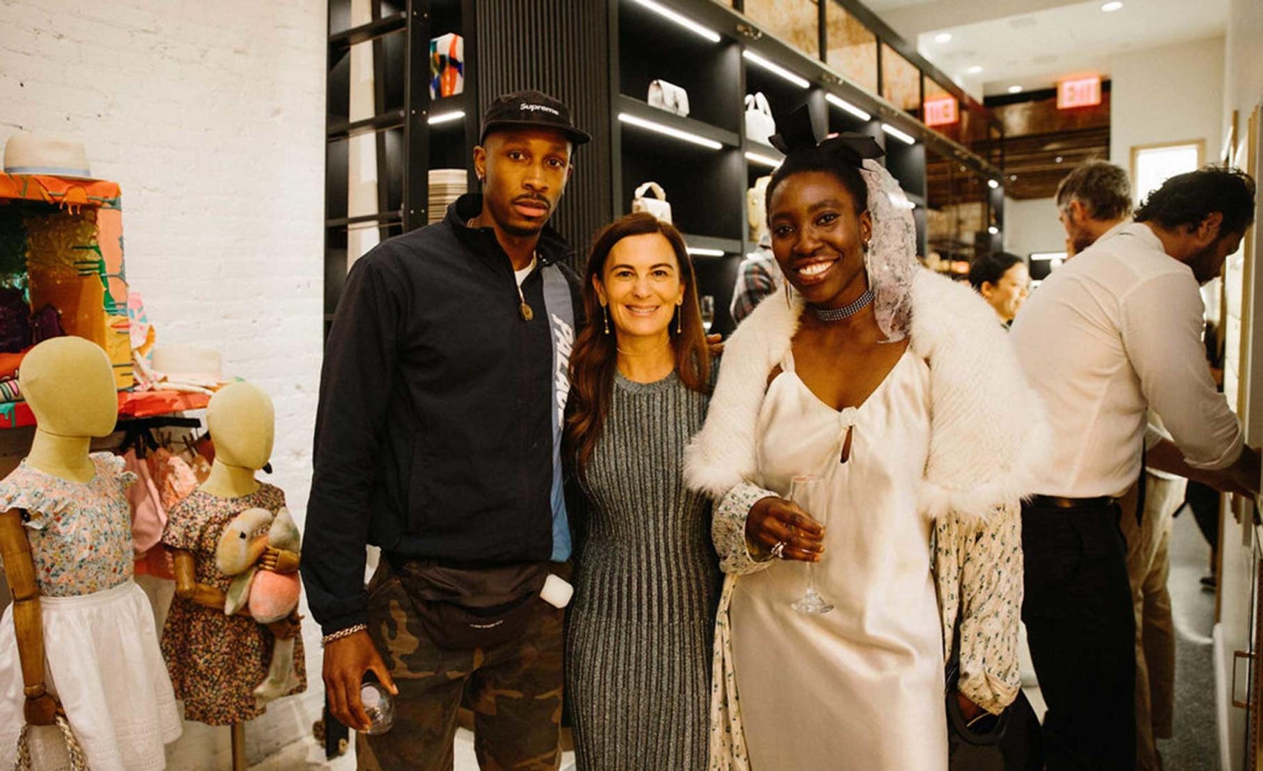 Philip-Daniel Ducasse, Sarah Harrelson and Becky Akinyode