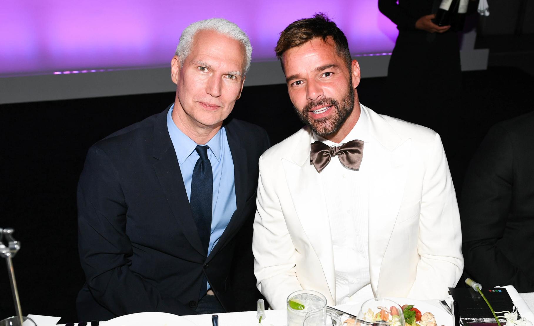 Klaus Biesenbach and Ricky Martin