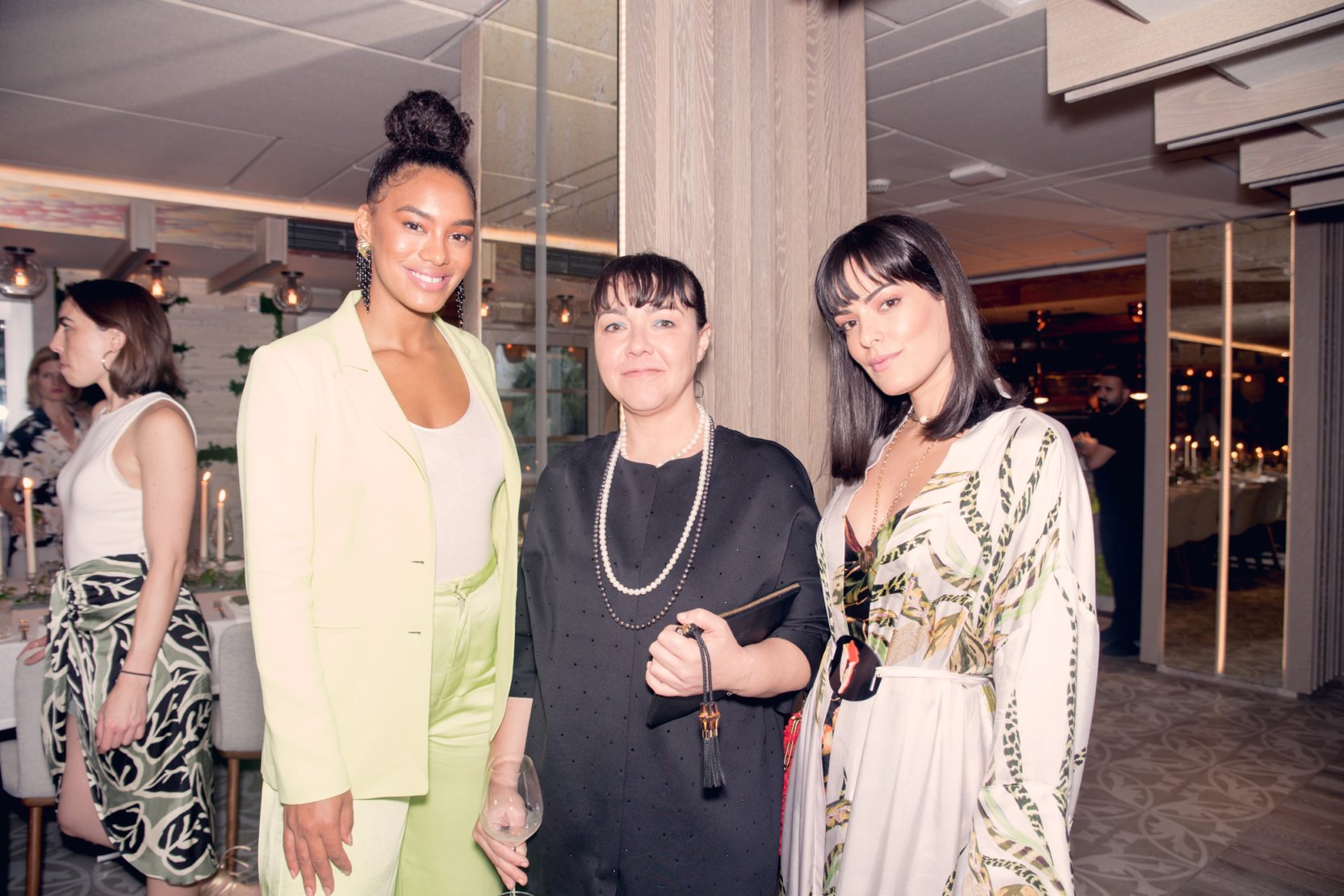 Raissa Santana, guest and Mariah Bernades