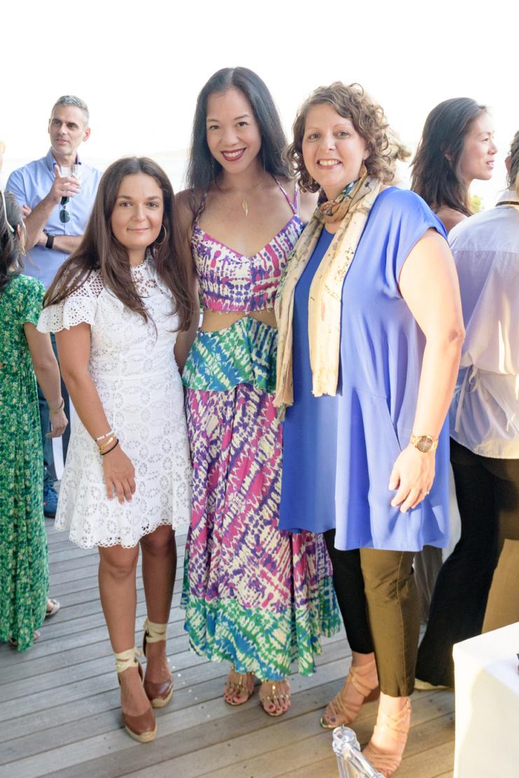 Maggie Droushiotis, Carla Shen and Sharon Matt Atkins