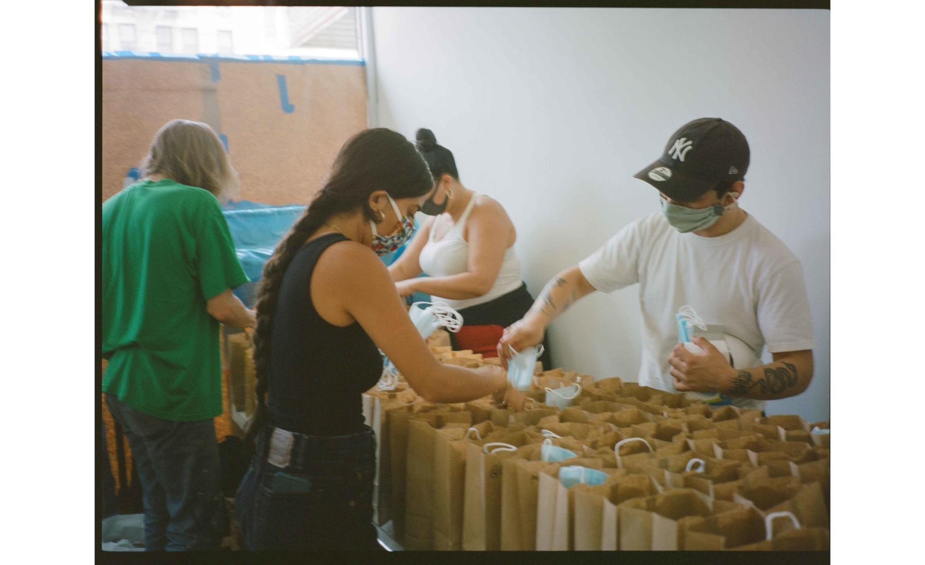 Volunteers hard at work at City Kits HQ. Photo by Jonas Bardin.