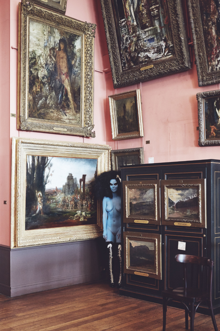 artist.   Kembra Pfahler and Rick Owens' Untitled, 2016. Digital c-print framed: 26 x 19.5 in. (66 x 49.5 cm). Donating to Food Bank For New York City. Courtesy of the artist and Emalin, London.