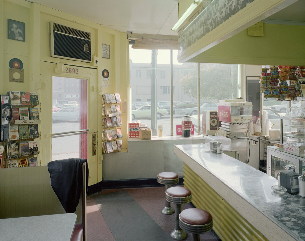 Stephen Shore's Texas Hots, 2693 South Park Avenue, Lackawanna, New York, October 25, 1977, 1977 (printed 2015). A chromogenic color print; unframed: 24 x 20 in. (61 x 50.1 cm). Donating to: The Photography Program at Bard Materials Fund.