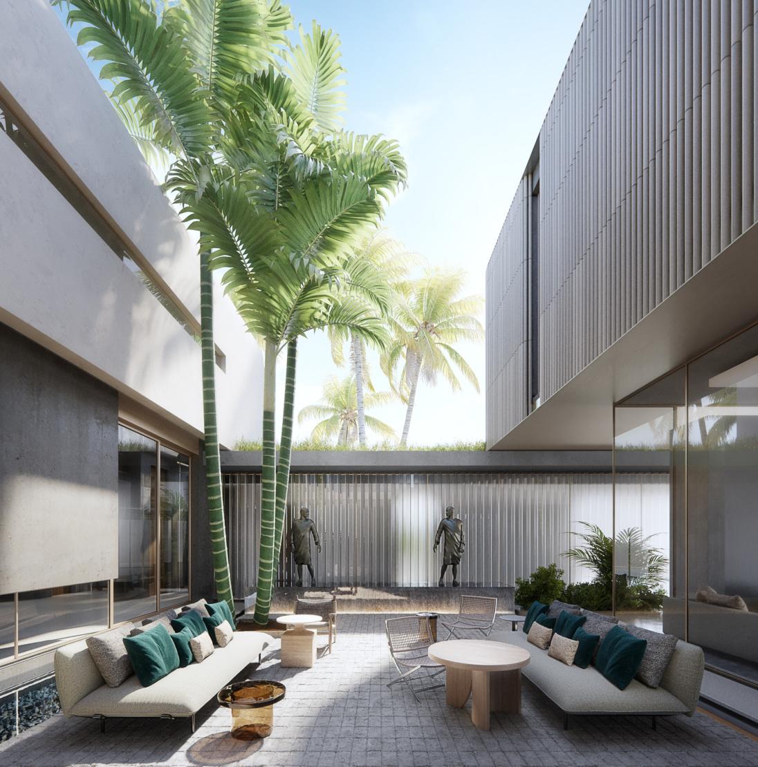 The courtyard. Image by Azeez Bakare Studios.