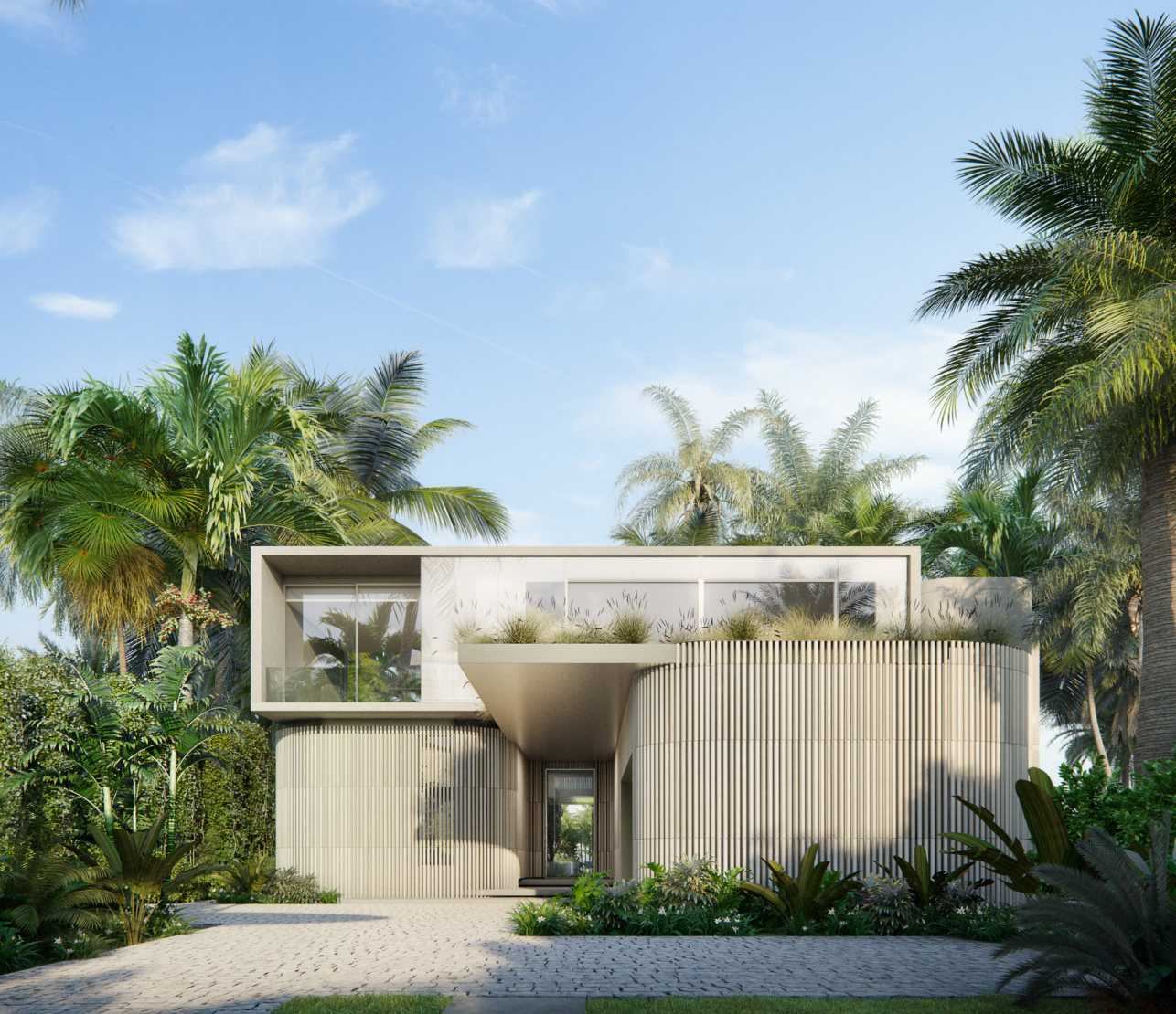 This Sunset Island residence is a current collaboration between KoDA and Studio RODA. Image by Azeez Bakare Studios.
