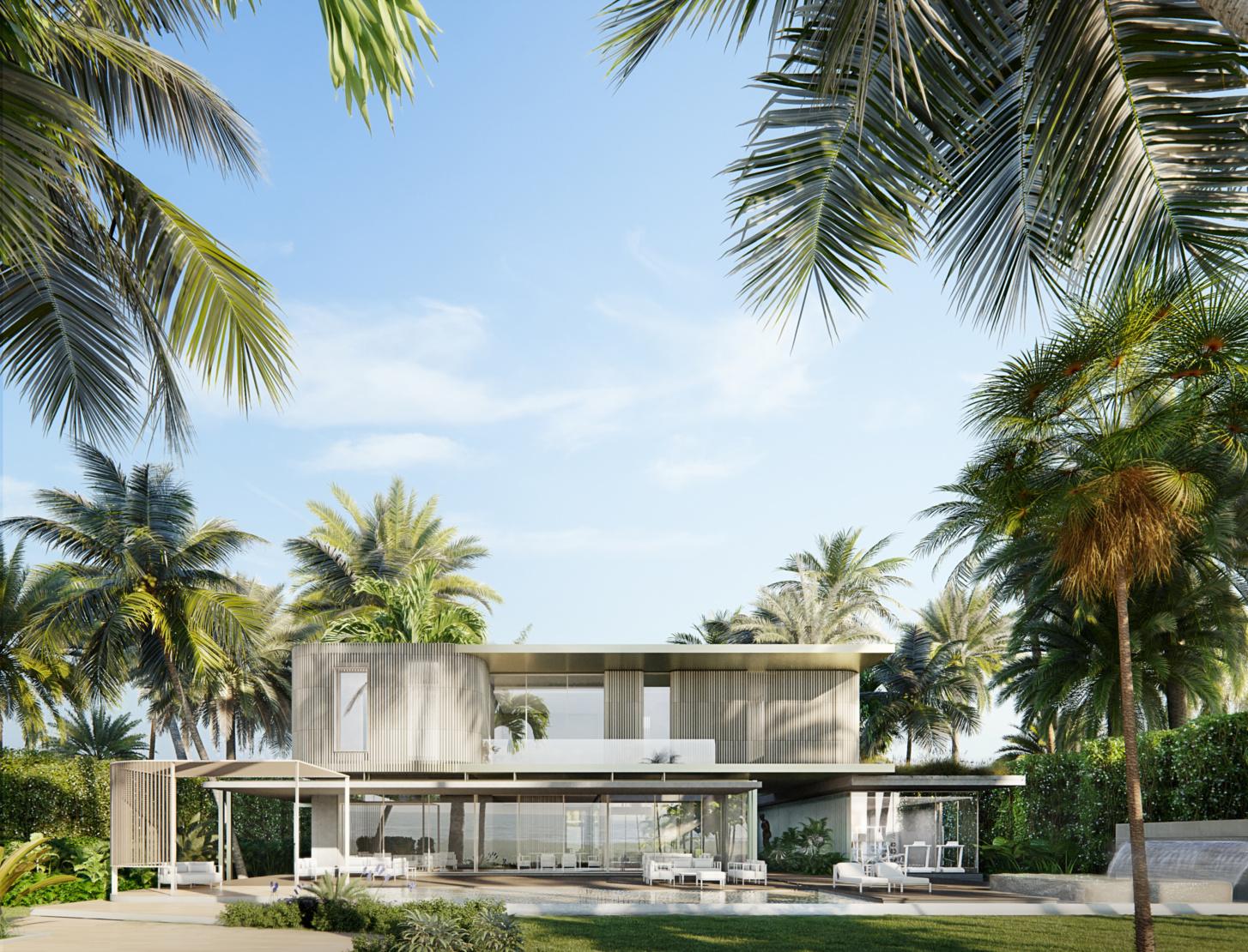 The rear facade and garden. Image by Azeez Bakare Studios.