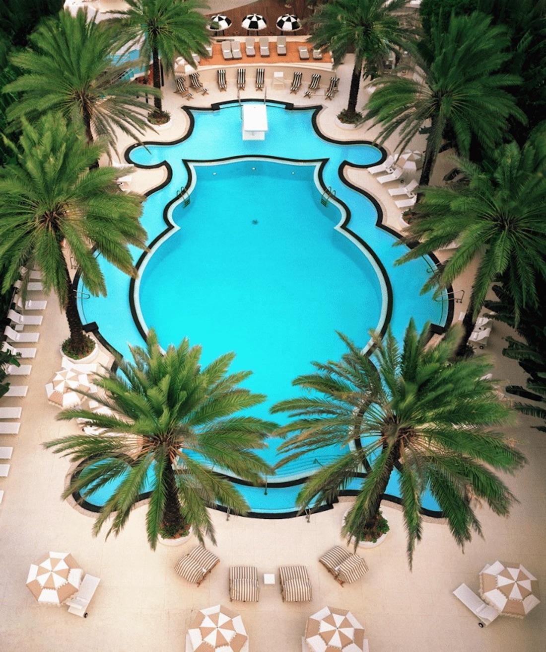 Art deco style pool