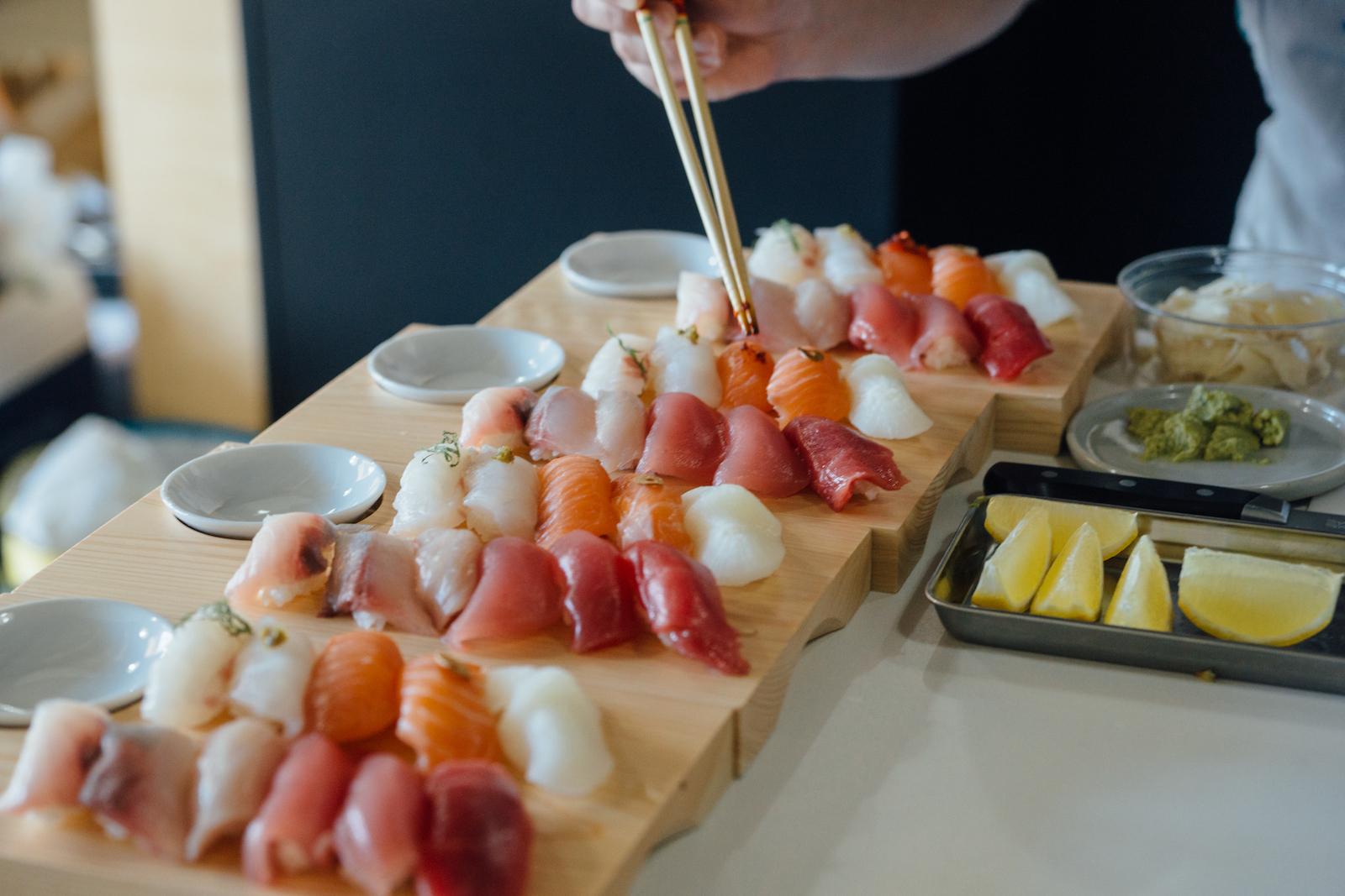 Sushi by Chef Taka Hirano.
