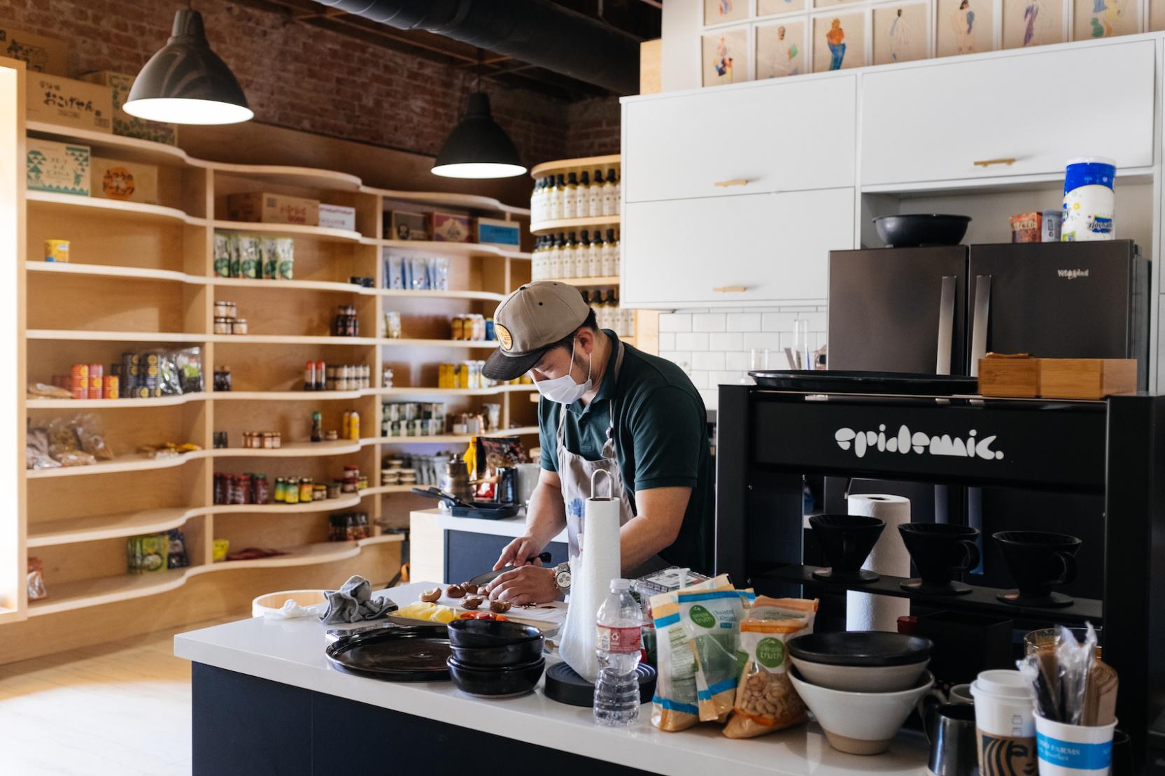 Chef Taka Hirano in the Darren San Sushi space.