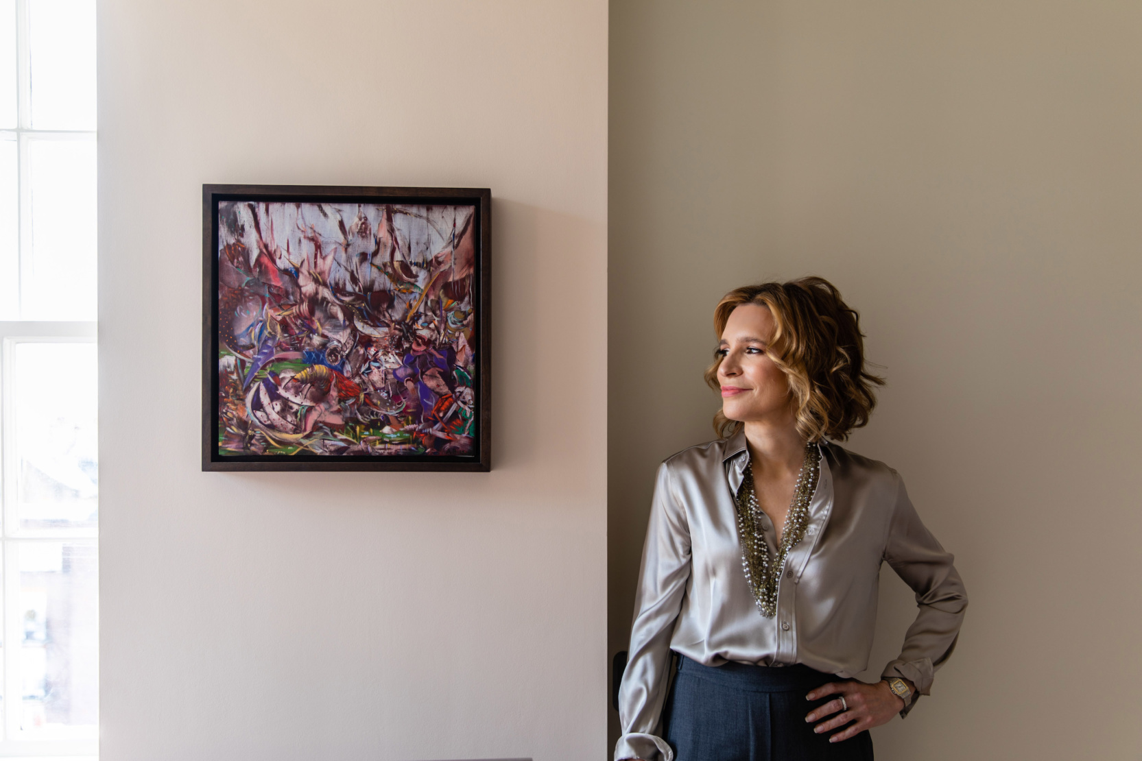 Wendy Goldsmith with Ali Banisadr, The Devil, 2012.