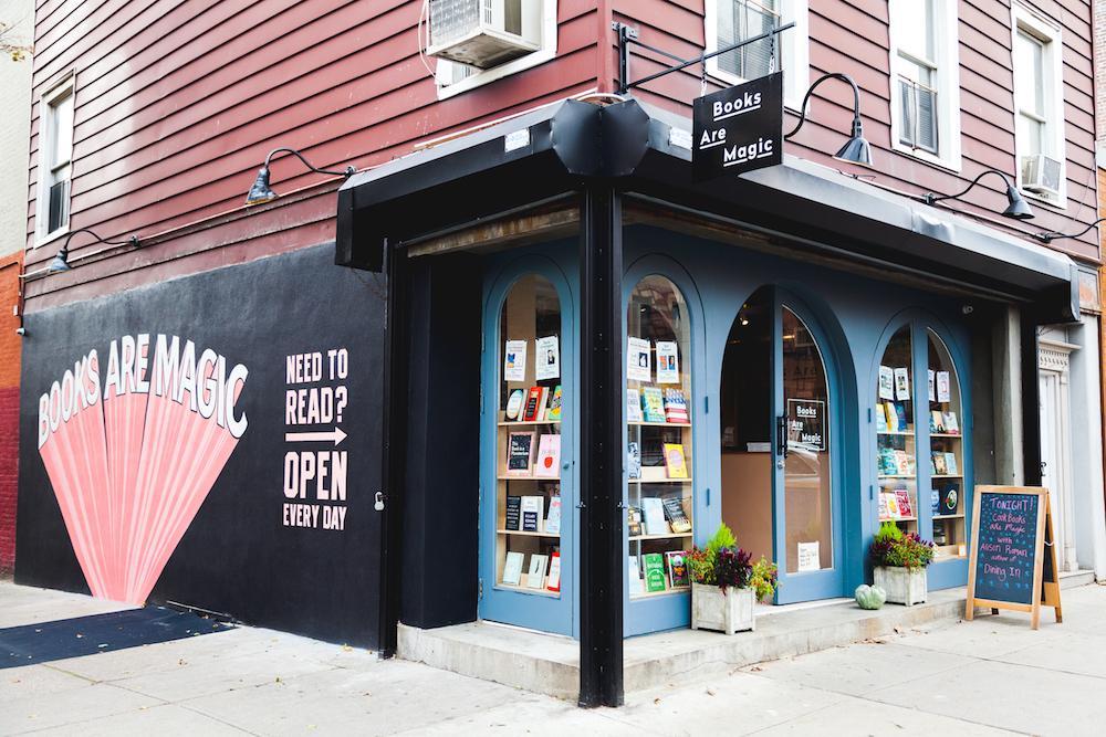 books are magic storefront