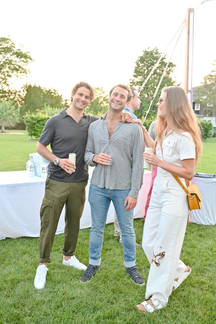 Jack Brinkley-Cook, Oliver Corbisiero and Nina Agdal.