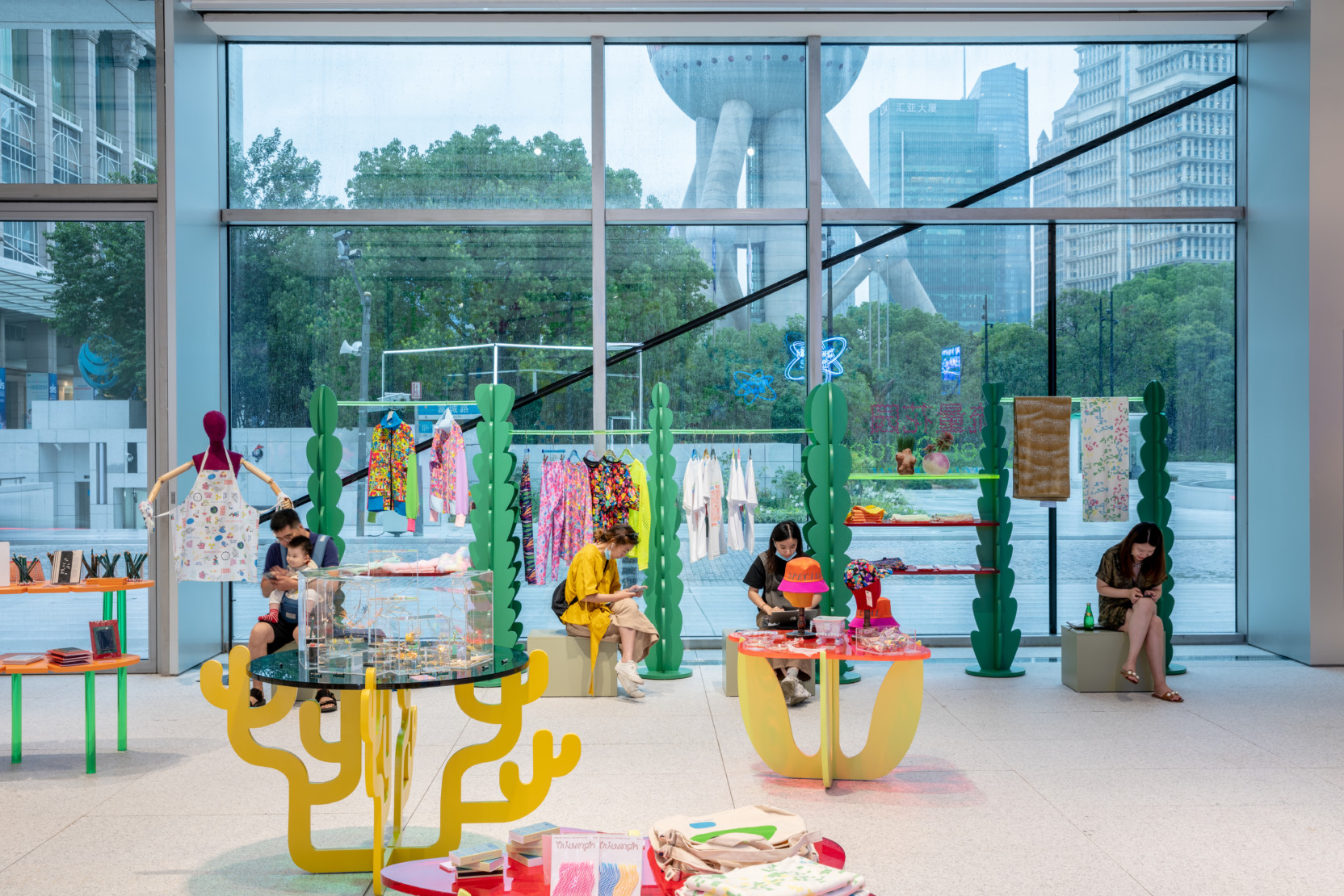 Installation view of Cyber Garden, a Special Special pop-up at Museum of Art Pudong, Shanghai, China. Image courtesy of Special Special.