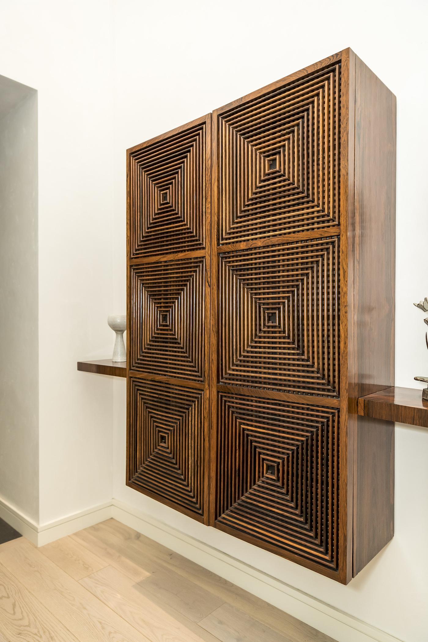 geometric Joaquim Tenreiro cabinet in jamie tisch home