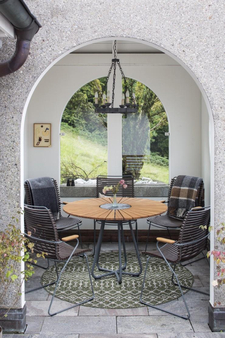 The patio features Johanna Kristbjorg's