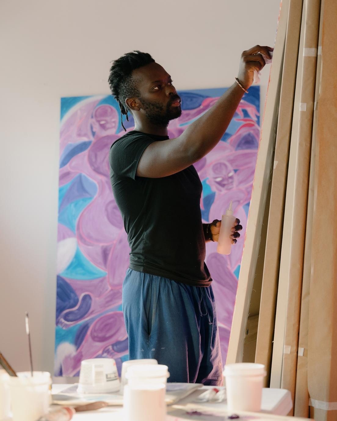 Tunji Adeniyi-Jones artist painting