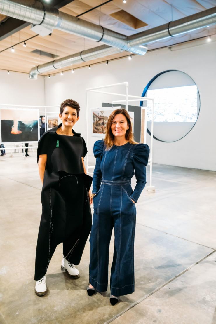 Azadeh Shladovsky and Sarah Harrelson.