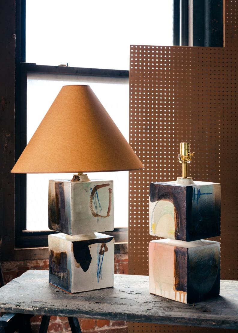 Talis Cube lamps.
