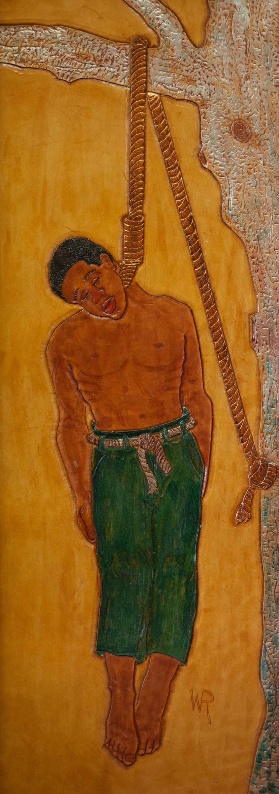 winfred rembert painting on leather