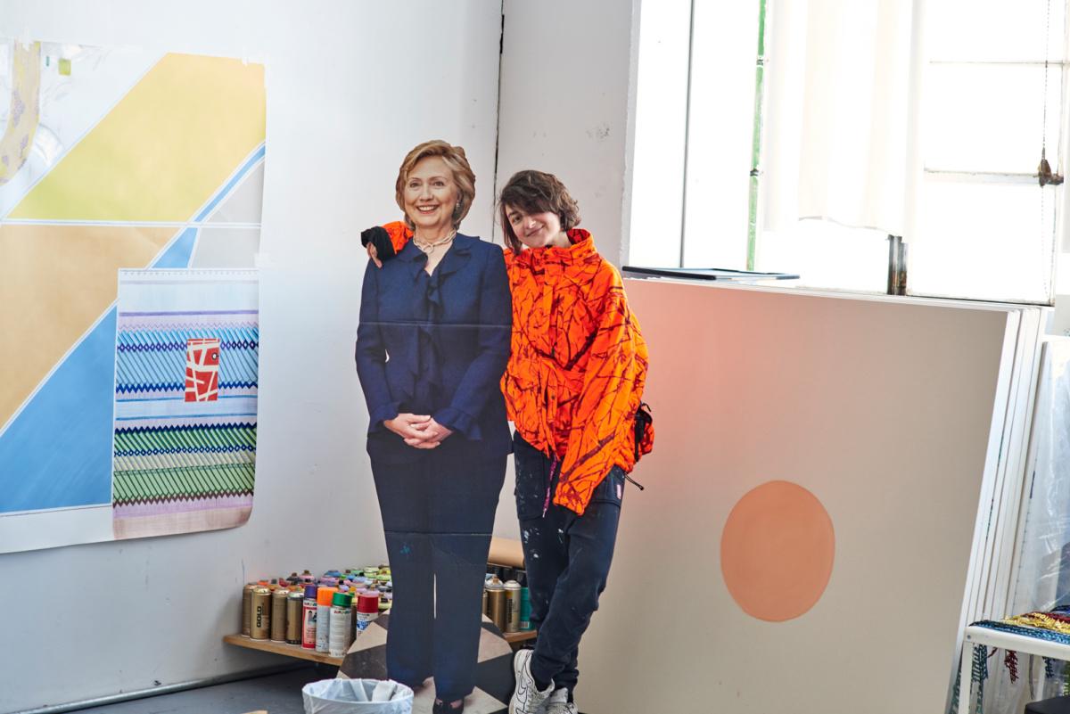 Anna Bernhardt artist anna k.e. gives a visual tour of her bushwick studio