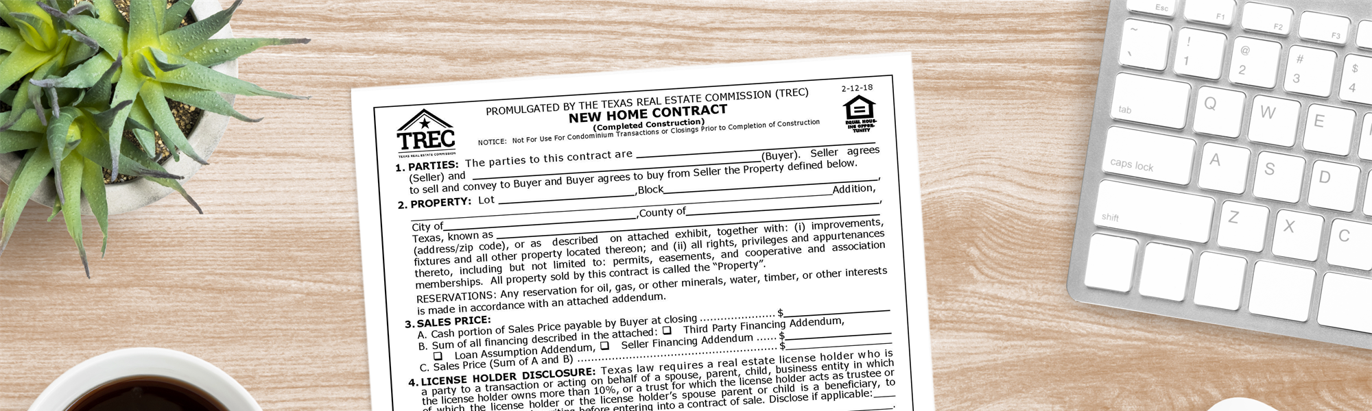 Understanding The TREC 1-4 Family Residential  Contract