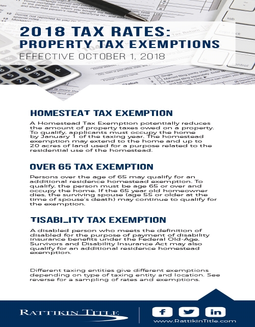 2018 Property Tax Exemptions