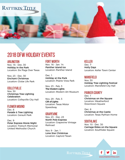 2018 DFW Holiday Events