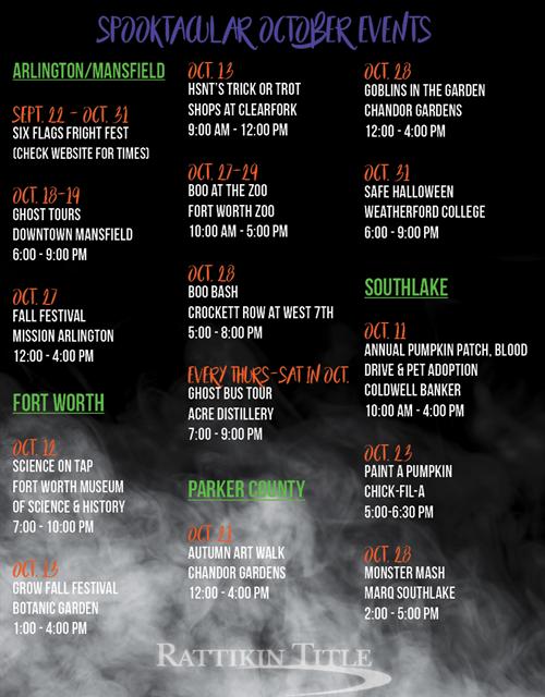 2018 October Events