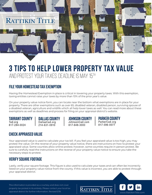 3 Tips to Help Lower Property Tax Value