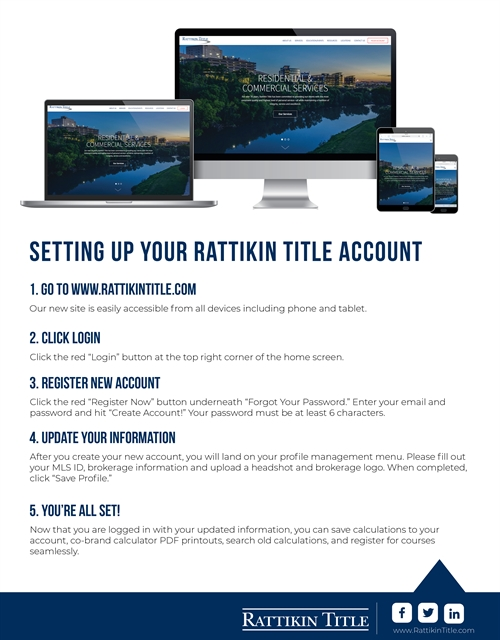 Setting Up Your Rattikin Title Account
